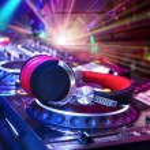 Dj mixer with headphones — Stock Photo