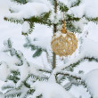 Christmas golden ball — Stock Photo #14345163