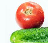 Domates ve salatalık — Stok fotoğraf