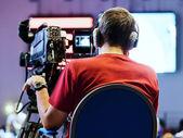 Profesyonel kameraman — Stok fotoğraf