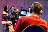 Cinegrafista profissional — Foto Stock