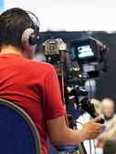 Camarógrafo profesional — Foto de Stock