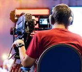 Cameraman professionale — Foto Stock