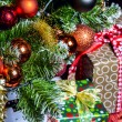 Decorated Christmas tree — Stock Photo #17879291
