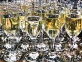 Crystal glasses with champagne — Stock Photo