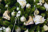 Decorated Christmas tree — Foto Stock