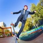 Skateboarder in the skatepark — Stock Photo #22765604