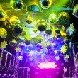 Disco ball in Christmas at nightclub - Stock Photo