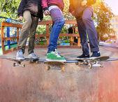 Skateboarder in the skatepark — Stock Photo
