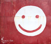 Symbol smiley face — Stock Photo