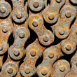 Rusty chain from bicycle - Stock Photo