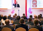 Na konferenci — Stockfoto