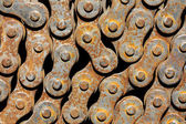 Rusty chain from bicycle — Stock Photo