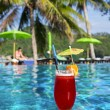 Cocktail Mai Tai near pool — Stock Photo