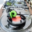 Vinyl Player with headphones — Stock Photo