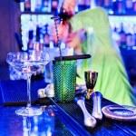 Barman professional making cocktail — Stock Photo #28435843