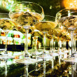 Glasses of champagne on bar — Stock Photo #30840479