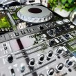 DJ CD player and mixer — Stock Photo