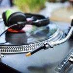 Vinyl Player with headphones — Stock Photo #30840539