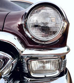 Classic old car front right view — Stock Photo