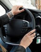 Woman Driving — Stock Photo