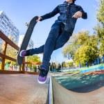 Skateboarder in the skatepark — Stock Photo #35399927