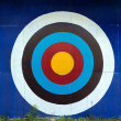 Standard target for decoration on wall — Stock Photo
