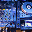 DJ CD player and mixer — Foto Stock
