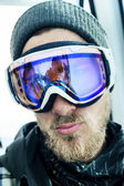 Portrait of man at ski resort — Stock Photo