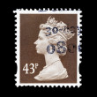 Postage Stamp with Portrait of Queen Elizabeth — Stockfoto