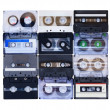 Stock Photo: Collection of various vintage audio tapes