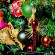 Decorated Christmas tree — Stock Photo #38671173