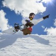 Stock Photo: Portrait of snowboarder
