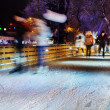 People are skating on rink — Stock Photo