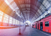 Covered railway station — Stock Photo