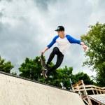 Skateboarder in the skatepark — Stock Photo #44946901