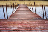 Dock for pleasure and fishing boats — Stock Photo