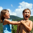 Children are swearing to each other — Stock Photo #47820961