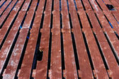 Old wooden platform — Stock Photo