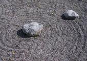 Feng Shui garden zen stones — Stock Photo