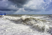Sea waves during the storm — Stockfoto