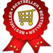 Bestseller icon with ribbon - Stock Photo