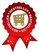 Bestseller icon with ribbon — Stock Photo