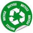 Stock Photo: Recycle sticker