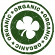 Stock Photo: Organic green stamp