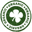 Organic green stamp - Stock Photo