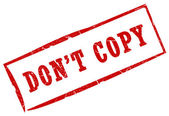 Do not copy — Stock Photo