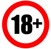 Eighteen years old sign — Stock Photo