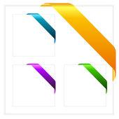 Vector corner ribbons set — Stock Vector