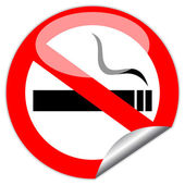 No smoking vector sign — Stock Vector